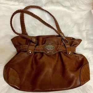 BUENO Medium Pleather Shoulder Bag Purse~ EUC~